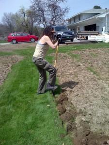 May 8, 2014:  Sheryl shovels