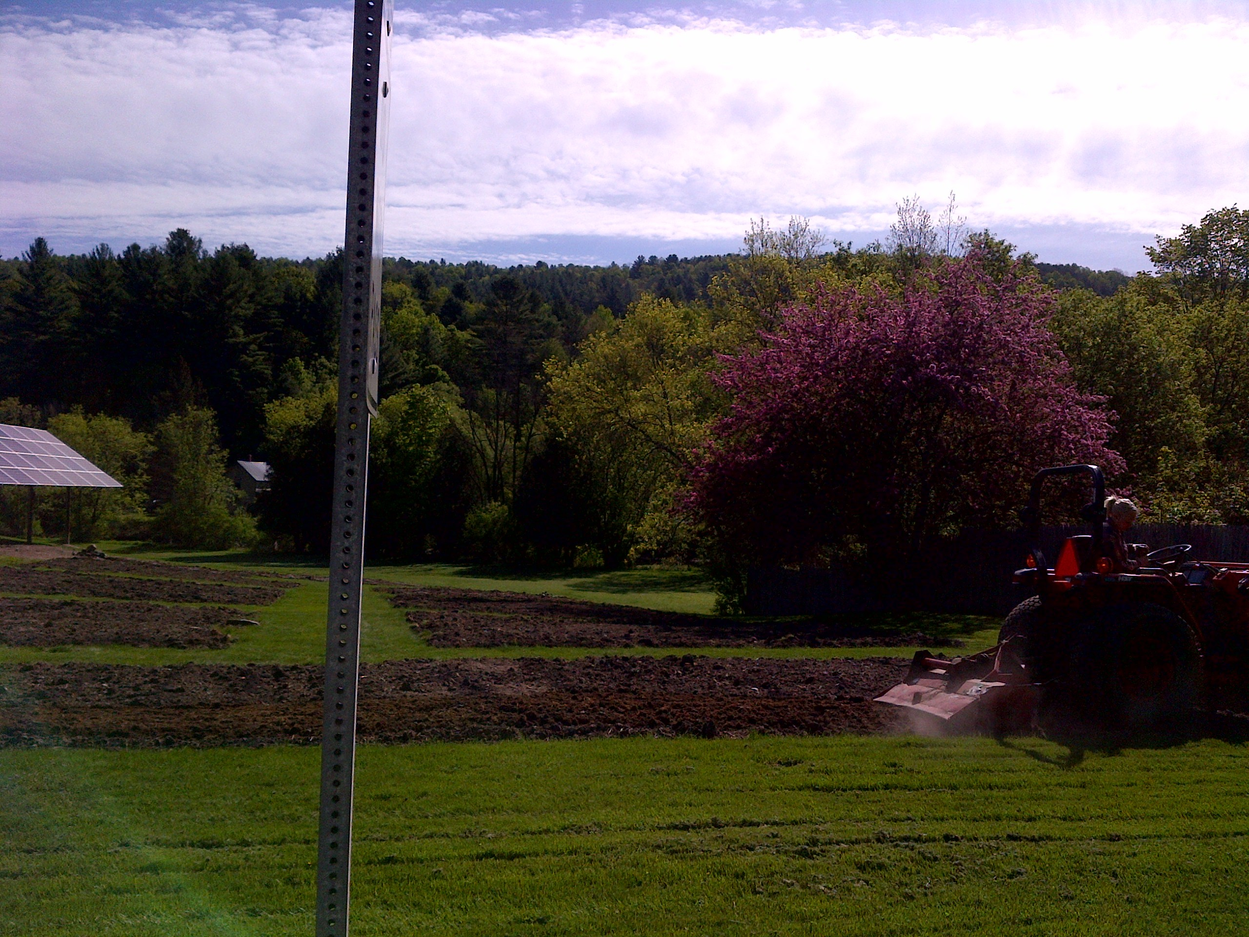 Thanks to Steph and the Montpelier Parks Department for final tilling