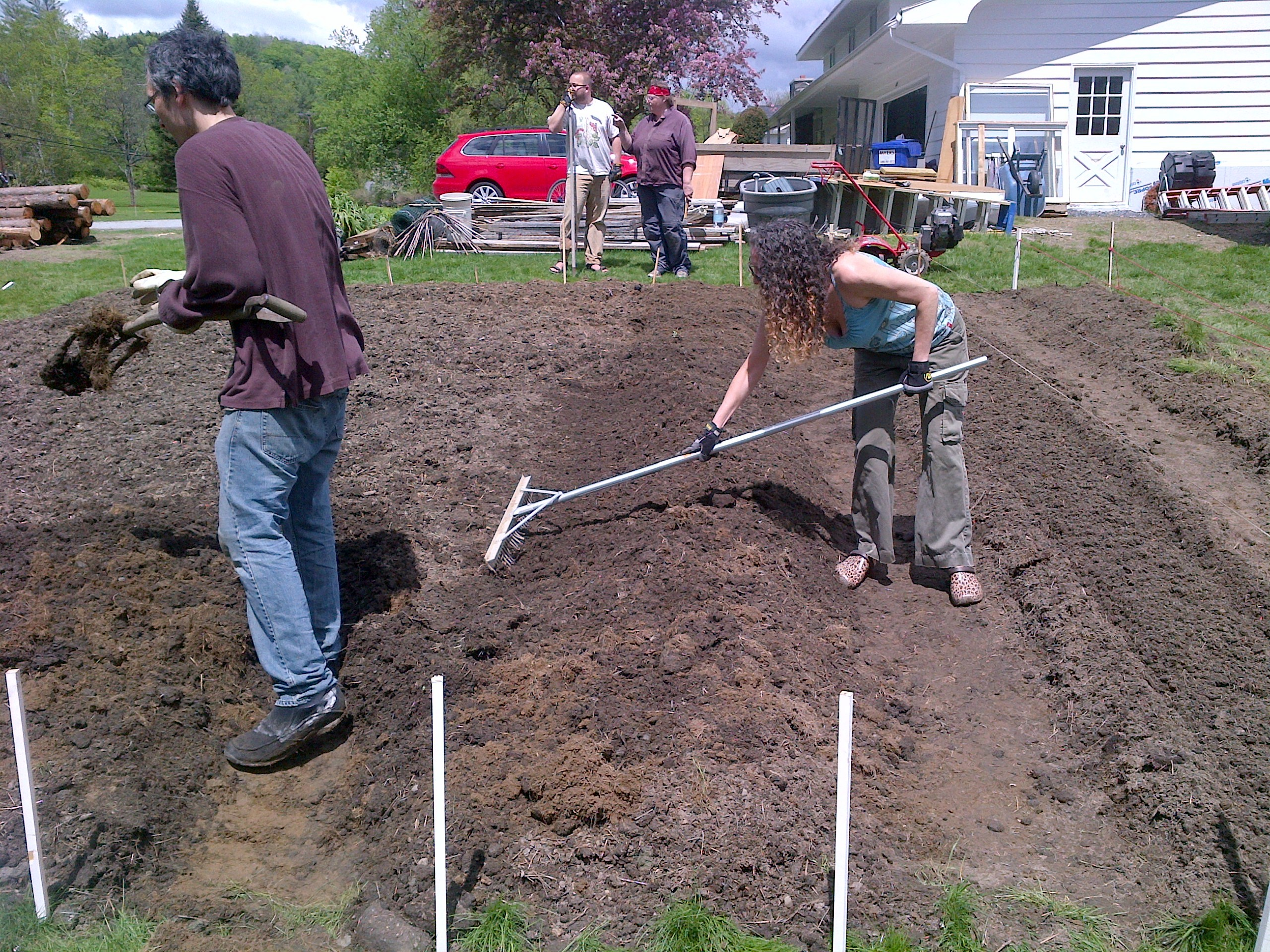 Hoeing rows