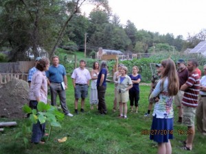Nature Conservancy Vermont's Director of Critical Lands and Conservation Science, Rose Paul, talks knotweed to Montpelier neighbors