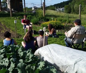 062015 Gleaning talk in the garden